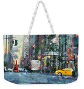 New York City Morning In The Street Weekender Tote Bag