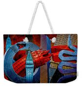 New York City Park Avenue Sculptures Reimagined Weekender Tote Bag