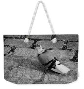 New York City Pigeon In Black And White Weekender Tote Bag