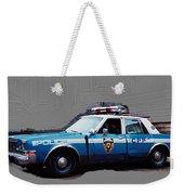 Vintage New York City Police Car 1980s Weekender Tote Bag