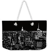 New York City Skyline At Night Weekender Tote Bag