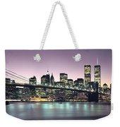 New York City Skyline Weekender Tote Bag by Jon Neidert