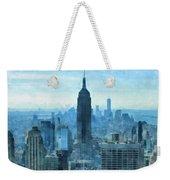 New York City Skyline Summer Day Weekender Tote Bag
