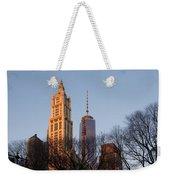 New York City Skyline Through The Trees Weekender Tote Bag