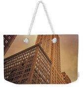 New York City - Skyscraper And Storm Clouds Weekender Tote Bag
