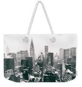 New York City - Snow-covered Skyline Weekender Tote Bag