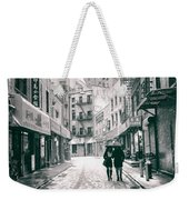 New York City - Snow On A Winter Afternoon - Chinatown Weekender Tote Bag by Vivienne Gucwa