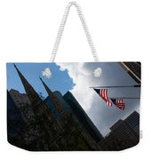 New York City Stars And Stripes Weekender Tote Bag
