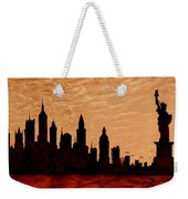 New York City Sunset Silhouette Weekender Tote Bag