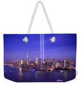 New York City Tribute In Lights World Trade Center Wtc Manhattan Nyc Weekender Tote Bag