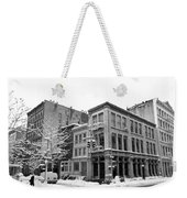 New York City Winter - Snow In Soho Weekender Tote Bag