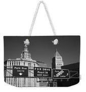New York City With Traffic Signs Weekender Tote Bag