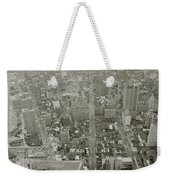 New York From The Trade Towers Weekender Tote Bag