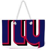 New York Giants Football 2 Weekender Tote Bag