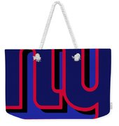 New York Giants Football Weekender Tote Bag