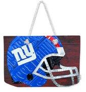 New York Giants Nfl Football Helmet License Plate Art Weekender Tote Bag