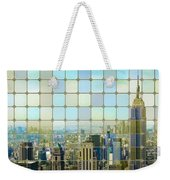 New York Golden Panorama Weekender Tote Bag