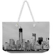 New York Harbor In Black And White Weekender Tote Bag