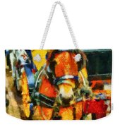 New York Horse And Carriage Weekender Tote Bag