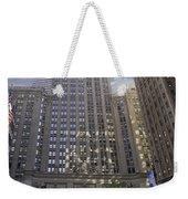 New York In Vertical Panorama Weekender Tote Bag