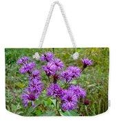 New York Ironweed Wildflower - Vernonia Noveboracensis Weekender Tote Bag