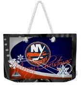 New York Islanders Christmas Weekender Tote Bag