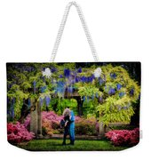 New York Lovers In Springtime Weekender Tote Bag