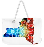 New York - Map By Sharon Cummings Weekender Tote Bag