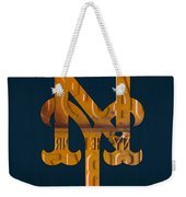 New York Mets Baseball Vintage Logo License Plate Art Weekender Tote Bag