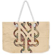 New York Mets Poster Art Weekender Tote Bag