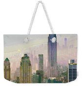 New York Misty Morning Weekender Tote Bag