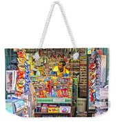 New York Newsstand Weekender Tote Bag