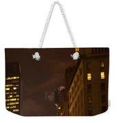 New York Night Weekender Tote Bag