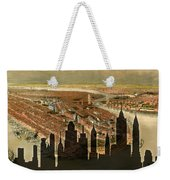 New York Old And New Weekender Tote Bag