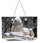 New York Public Library Lion Weekender Tote Bag
