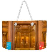 New York Public Library Main Reading Room Entrance I Weekender Tote Bag