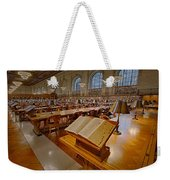 New York Public Library Rose Main Reading Room  Weekender Tote Bag