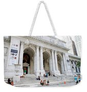 New York Public Library Weekender Tote Bag