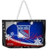 New York Rangers Christmas Weekender Tote Bag