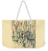 New York Roof Party - Watercolor Ink Weekender Tote Bag