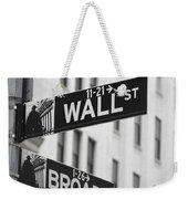New York Signs Weekender Tote Bag