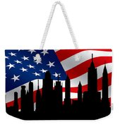 New York Skyline Weekender Tote Bag