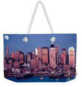 New York Skyline At Dusk Weekender Tote Bag