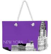 New York Skyline Chrysler Building - Purple Weekender Tote Bag
