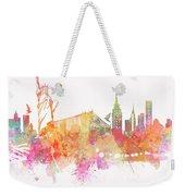 New York Skyline City Weekender Tote Bag