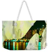 New York Skyline In A Shoe Weekender Tote Bag