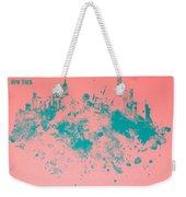 New York Skyline Paint Splash Weekender Tote Bag