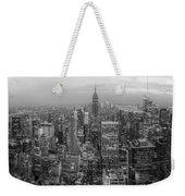 New York Skyline Panorama Bw Weekender Tote Bag