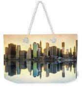 New York Skyline Sunset Weekender Tote Bag