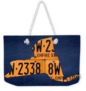New York State License Plate Map Weekender Tote Bag
